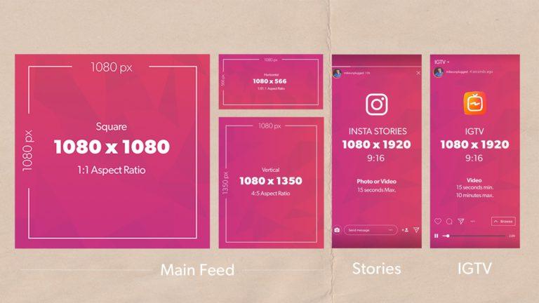 Instagram képméretek 2020